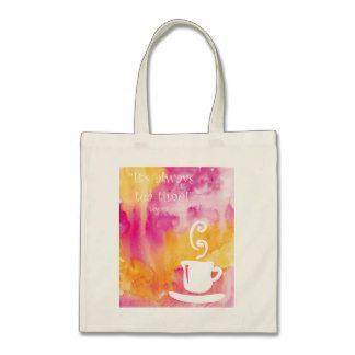 Tea lovers tote bag