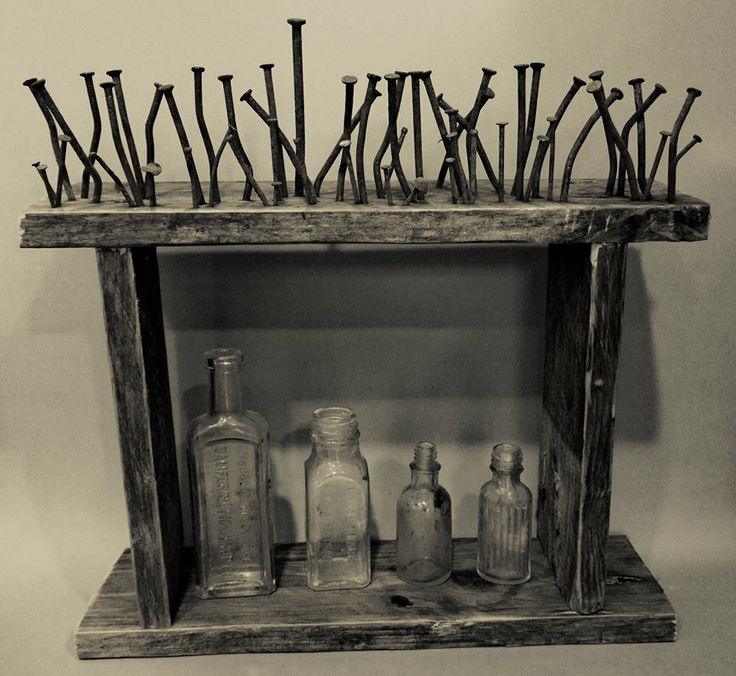 Rotten Pallet, Rusty Nails & Found Glass Bottles - Dylan Rose