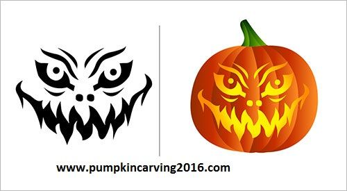 free halloween scary pumpkin carving stencils