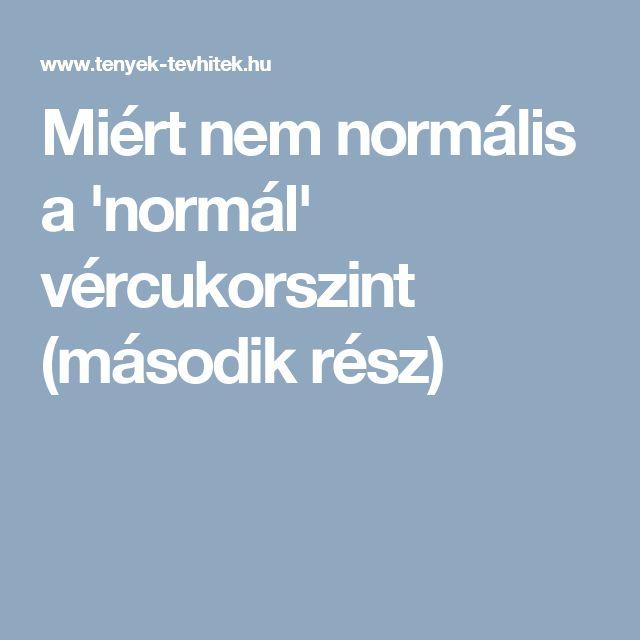 Miért nem normális a 'normál' vércukorszint (második rész)