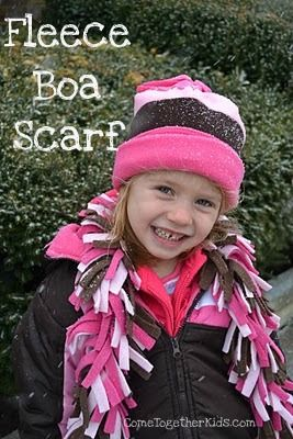 fleece boa scarves