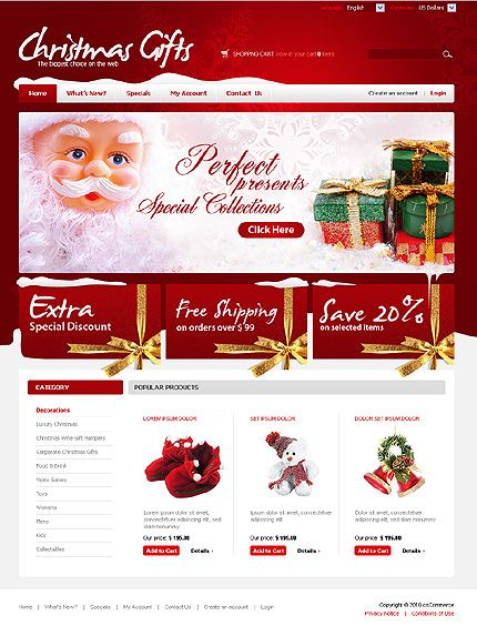 16 best Christmas Web Templates images on Pinterest | Christmas ...