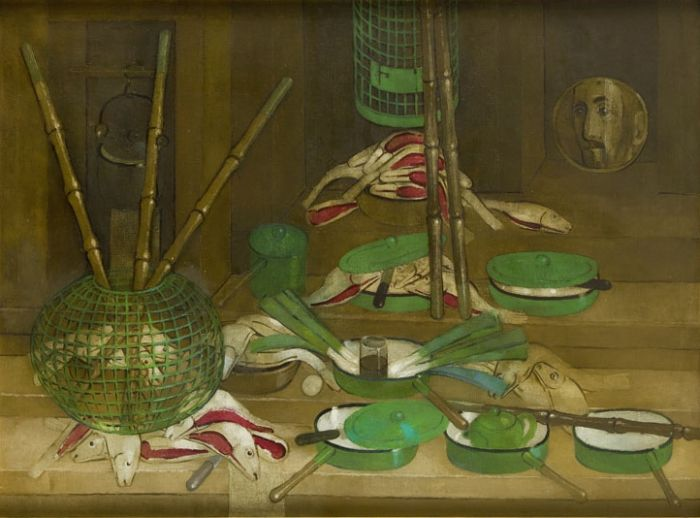 Kiejstut Bereźnicki - Martwa natura w tonacji oliwkowej, 1881/83