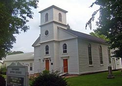Hyde Park Dutch Reformed Church, http://en.wikipedia.org/wiki/Hyde_Park,_New_York    (link to Hyde Park, NY Wiki page)