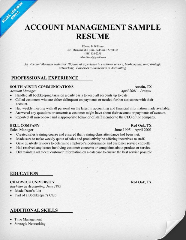 account management resume sle ideas para tu