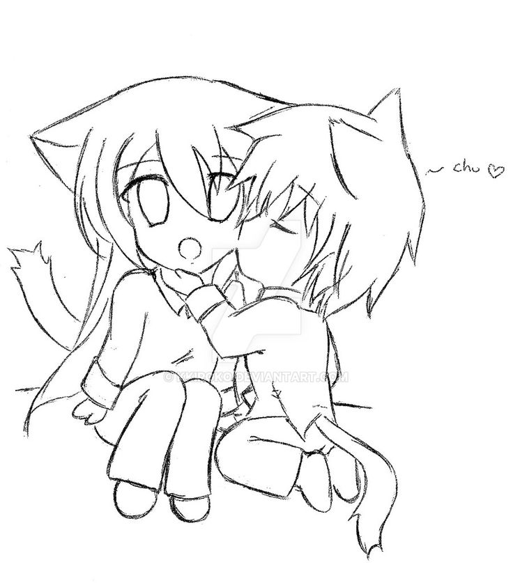 chibi coloring couples cutenime pages 2020 Check