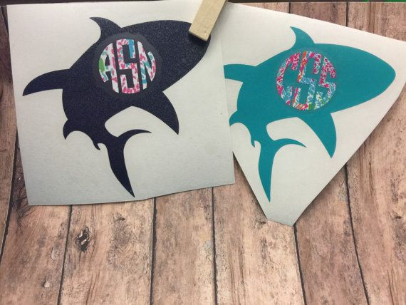 Yeti Cup Decals Monogram Shark Decals For Yeti Cups