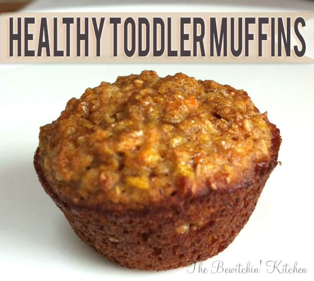 Healthy Toddler Muffins. This yummy snack is low in sugar and high in vegetables and fruits. A great snack choice for adults as well!