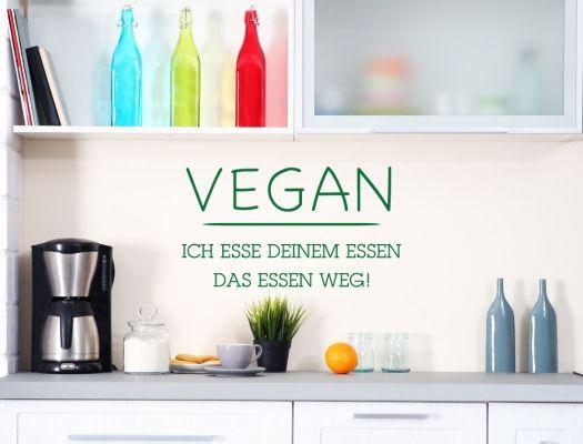 23 best Küchensprüche für Veganer als Wandtattoo images on Pinterest - küche deko wand