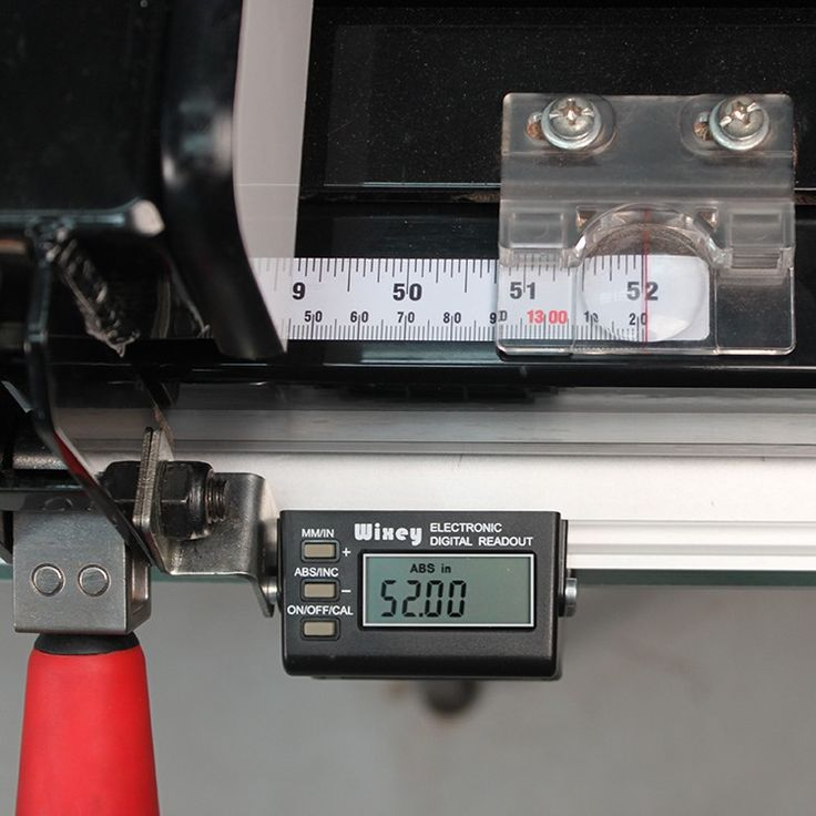Step up the Accuracy of your Cuts with this Must-Have Table Saw Accessory!    The Wixey Digital Table Saw Fence Readout provides unmatched accuracy in setting up and locating the rip fence on your table saw. It eliminates the frustration and guesswork when using your saw's built-in scale, tape measure, or ruler. The readout mounts to your existing table saw fence. It comes complete with a drill bit and self-tapping screws to mount the rails to the bottom of your saw's rip fence rail. Fits…