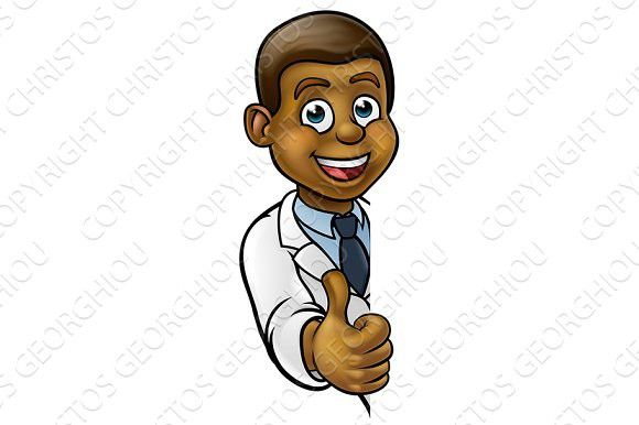 Scientist Cartoon Character Thumbs Up Sign. Kids #scientist #doctor