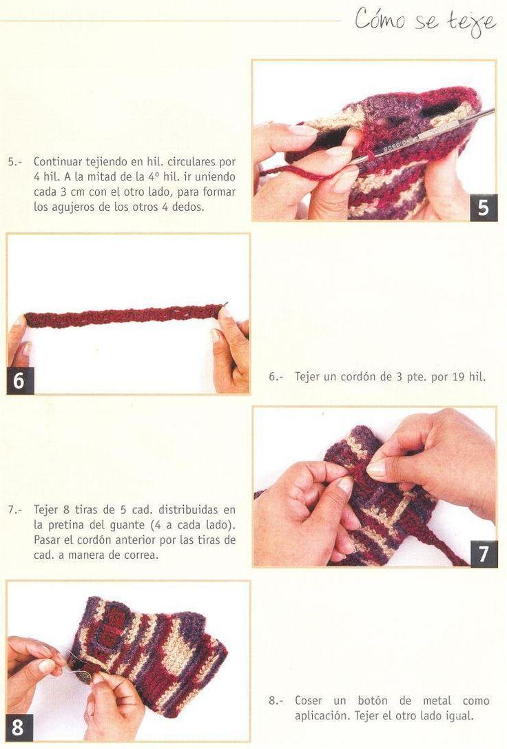 48 best Guantes y mitones images on Pinterest | Artesanías, Guantes ...