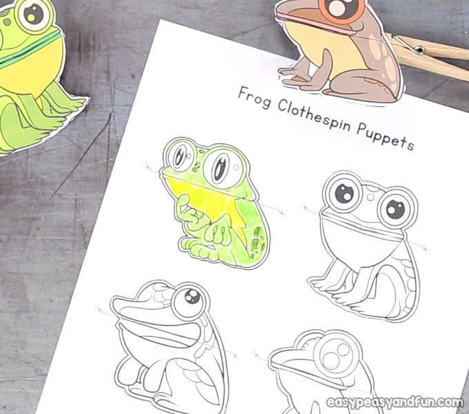 Frog Clothespin Puppets Puppets Clothes Pins Frog
