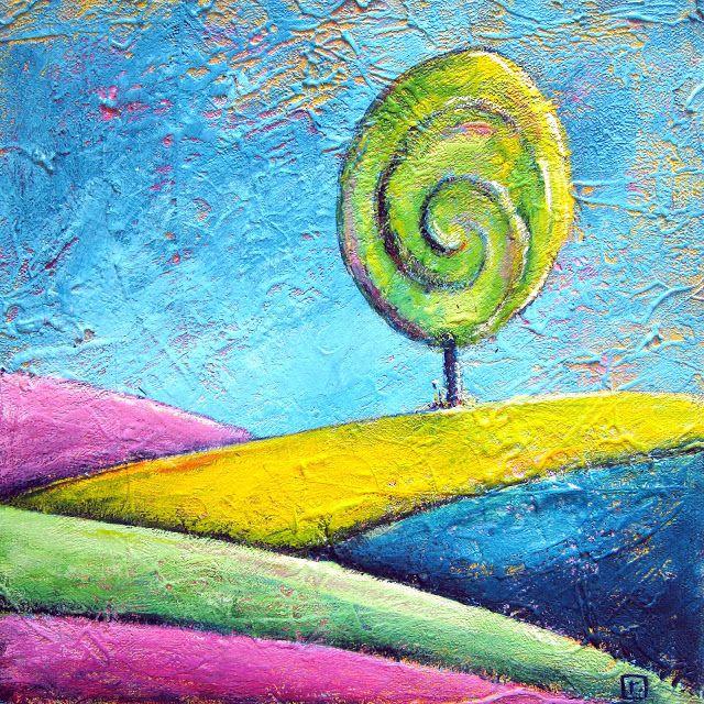 The Lollipop Tree - painting by Renee Walden