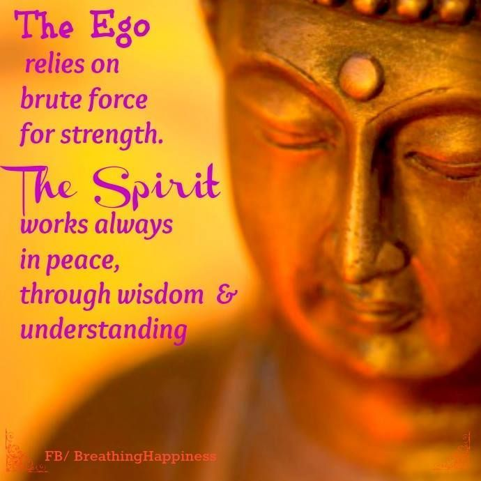 Understand the ego is about survival... but spirit is about love....