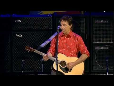 Paul McCartney - Blackbird -- One of my favorite Beatles songs. Happy memories from my teen years, and my brother sings and plays this so beautifully.
