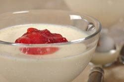Panna Cotta is a lovely ivory colored, custard-like pudding that has a wonderfully rich flavor and silky smooth texture that takes just minutes to prepare.  From Joyofbaking.com With Demo Video