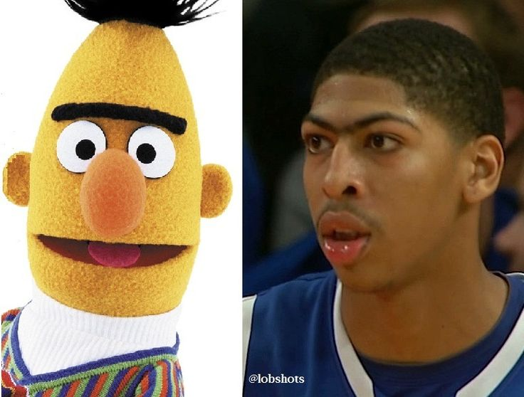 Anthony Davis looks just like Bert from Sesame Street....mind=BLOWN. lol... i drew him for unibrow on draw something.... looks the same!!