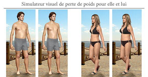 Simulateur virtuel de perte de poids