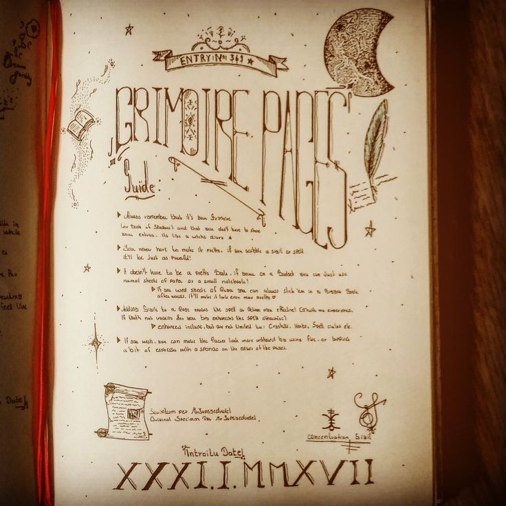 How to write a grimoire