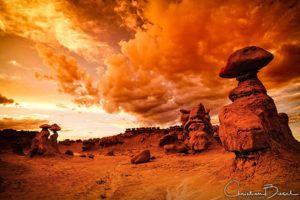 Golden Storm In The Goblin Valley