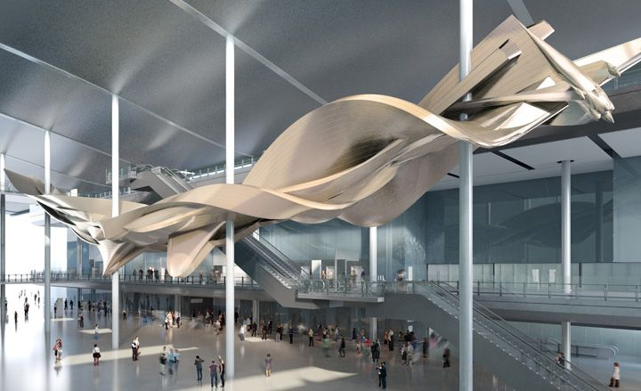 Richard Wilson's new sculpture for Heathrow's Terminal 2 | Art | Wallpaper* Magazine: design, interiors, architecture, fashion, art