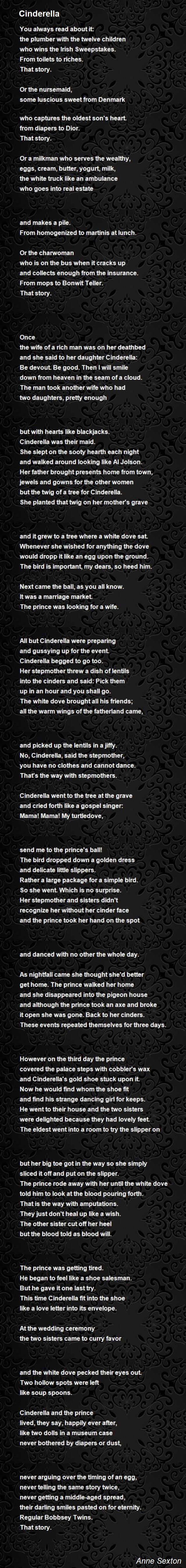 Cinderella by Anne Sexton