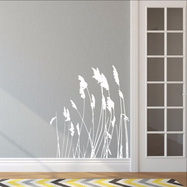 "Sea Oats Sea Grass Style A Vinyl Wall Decal 22422 Decal Measures approx. 35""H x 30""W The color samples shown have been reproduced and may vary slightly from actual colors due to different monitor sett"