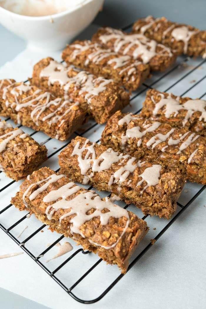 Carrot Cake Breakfast Bars Vegan The Infinebalance Food Blog Recipe Breakfast Bars Food Nutrition Bars