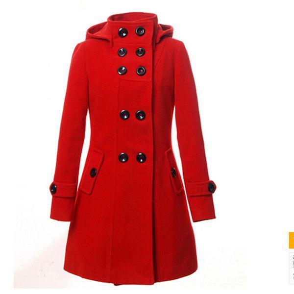 pas cher b328 femme mode plaid commerce une varit de couleurs chaudes laine manteau femme manteau - Manteau Femme Color