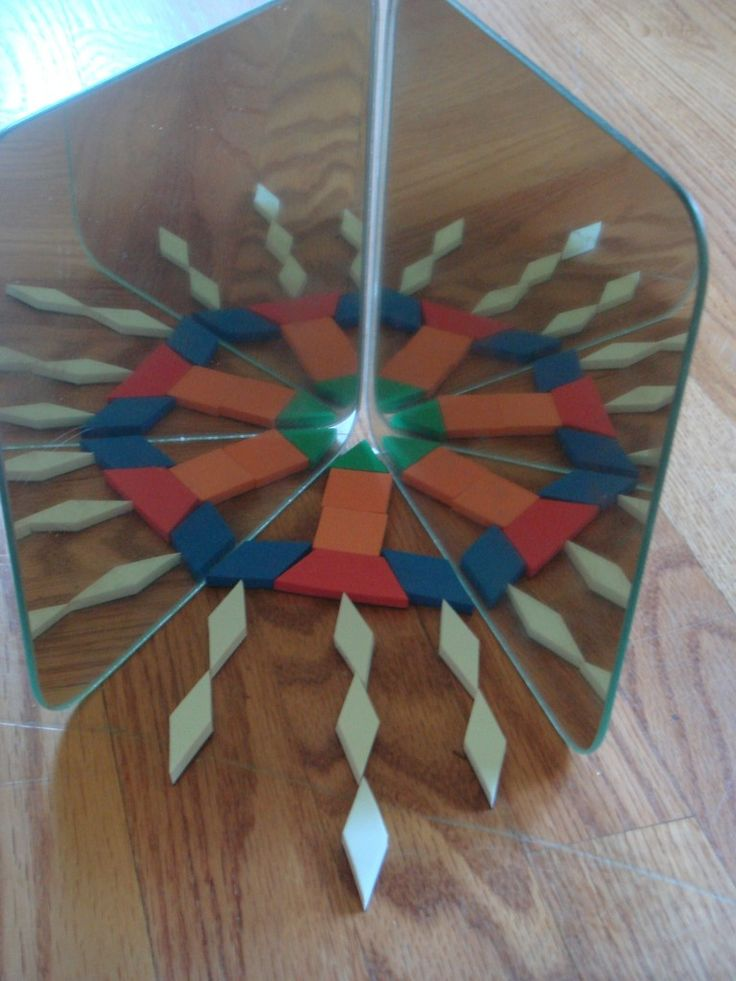 An idea to help even very young children create beautiful designs and learn about symmetry.