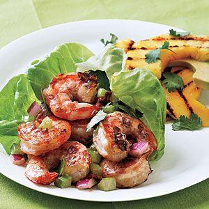 Low-Calorie Spring Menus  | Spicy Chipotle Shrimp Salad Menu | MyRecipes.com