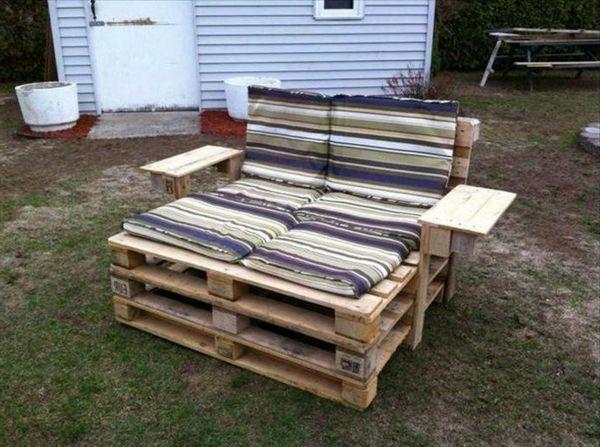 Holz Paletten Möbel Selbst Basteln DIY Ideen Charme Rustikal