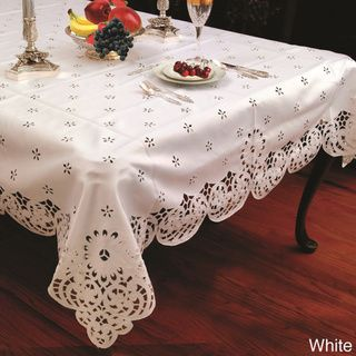 Cut-work Daisy Embroidered Tablecloth | Overstock.com Shopping - The Best Deals on Table Linens