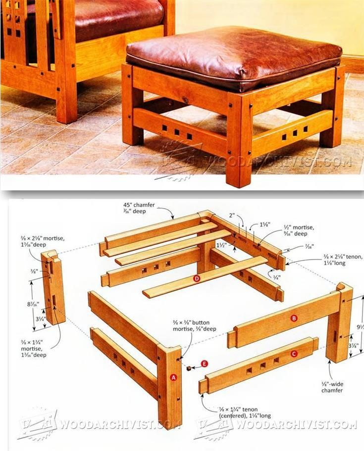 Ottoman Plans - Furniture Plans and Projects   WoodArchivist.com