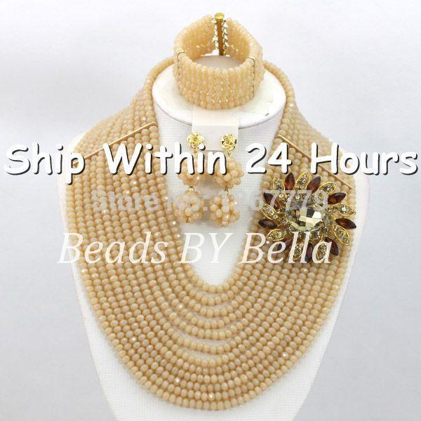 Гламурная 12 слоя бусины комплект ожерелье серьги браслет африки бижутерия мода комплект ювелирных изделий ABC629