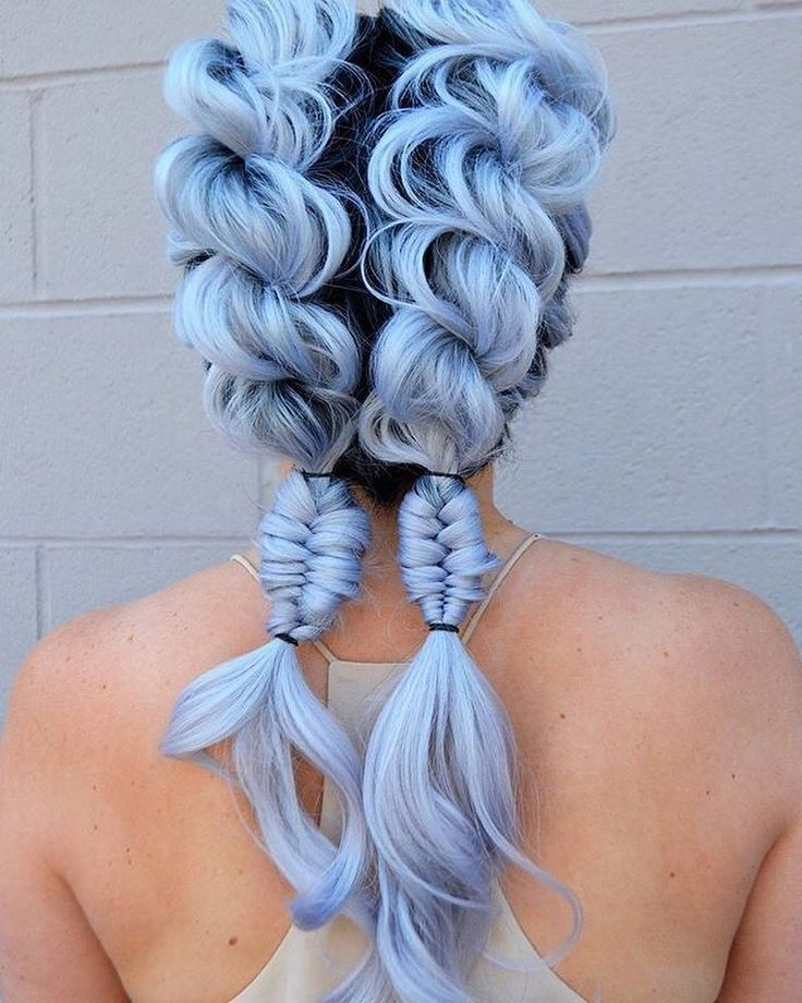 Top 16 hair colour trends for this summer 2017 - Lavender Blonde - Pastel Blue hair braids