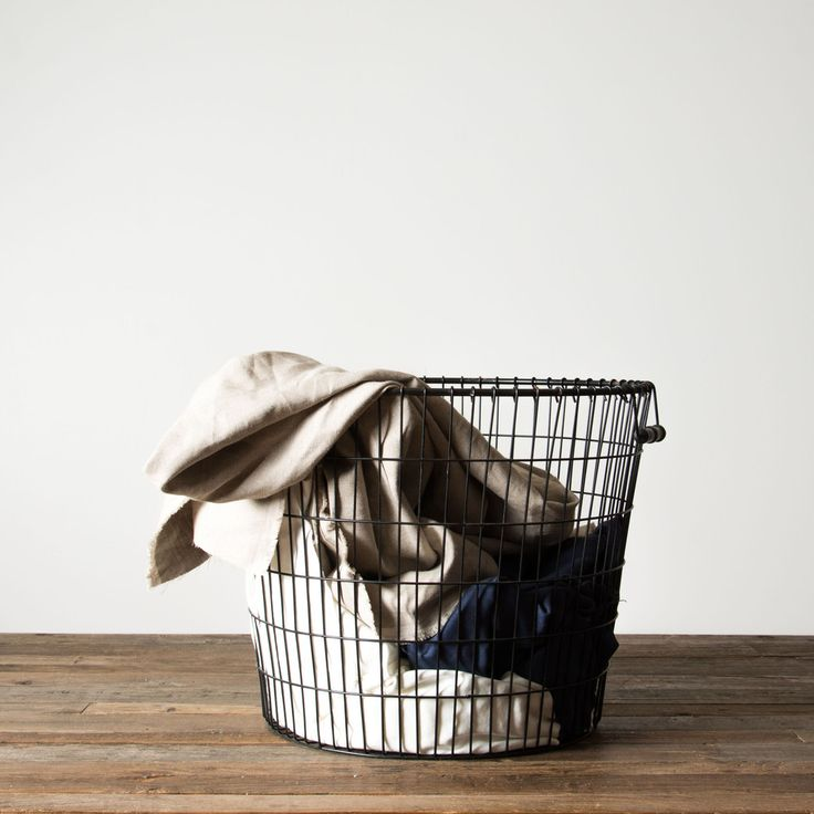 Black Laundry Basket. Magnolia Market. Medium.