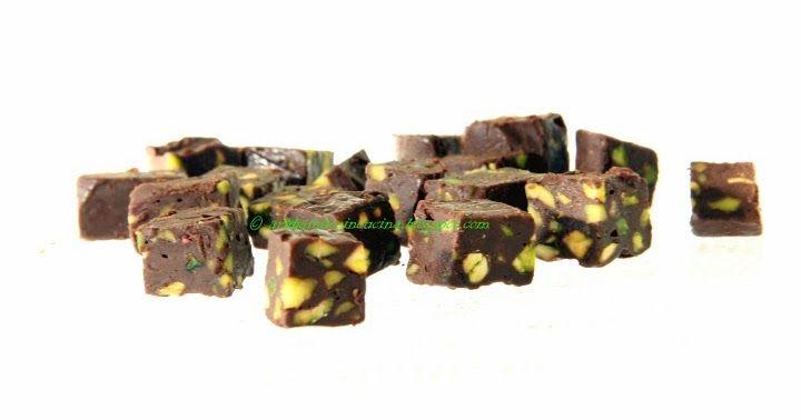 Cubetti cioccolato e pistacchi