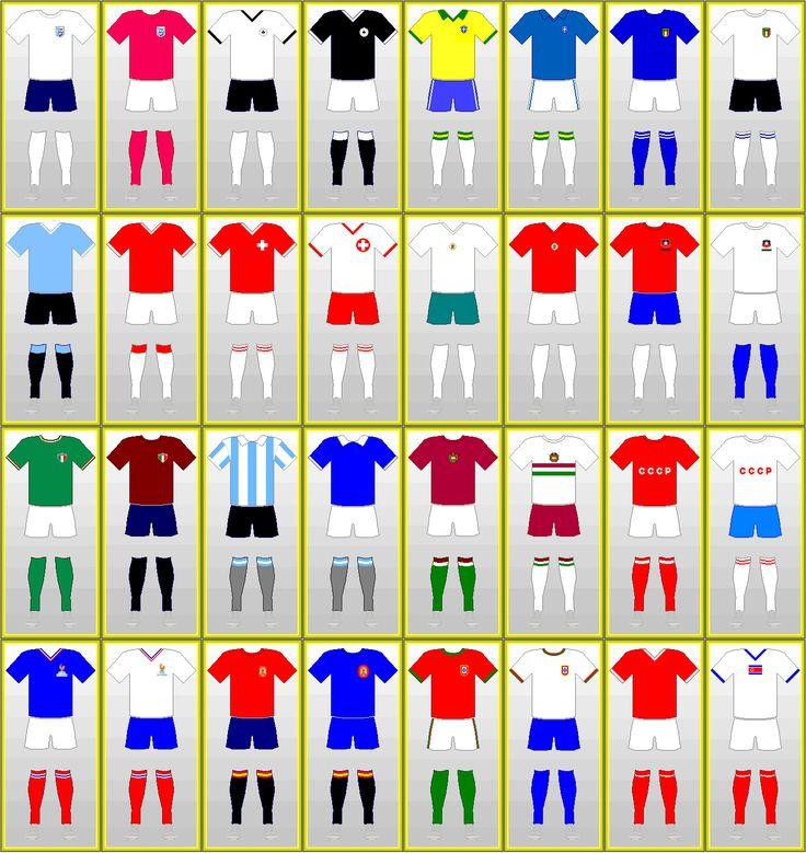 FIFA World Cup Uniforms: ENGLAND 1966