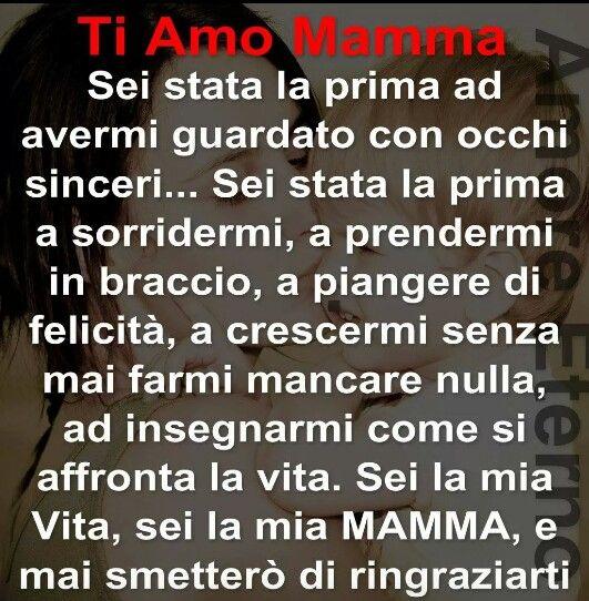 Ti amo mamma....
