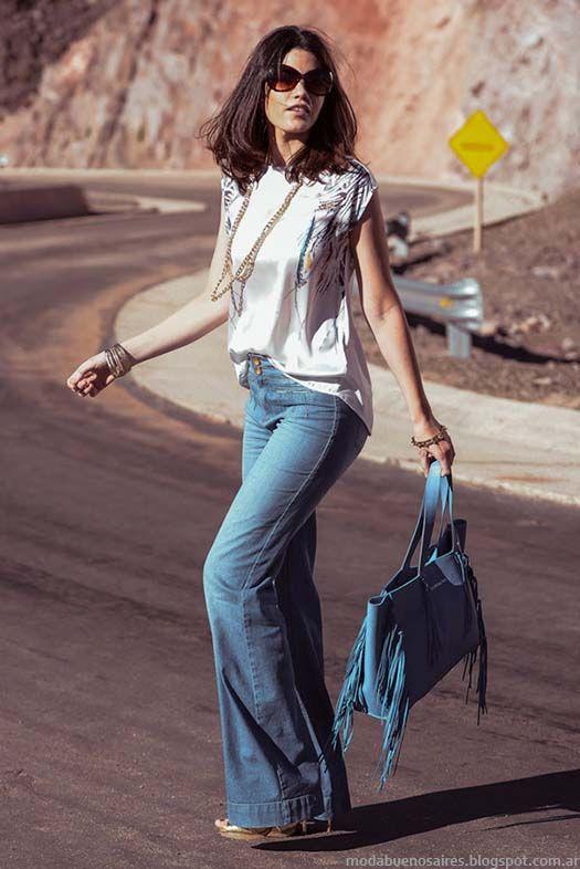 Pantalones de jeans oxford moda Markova primavera verano 2015. Moda verano 2015.