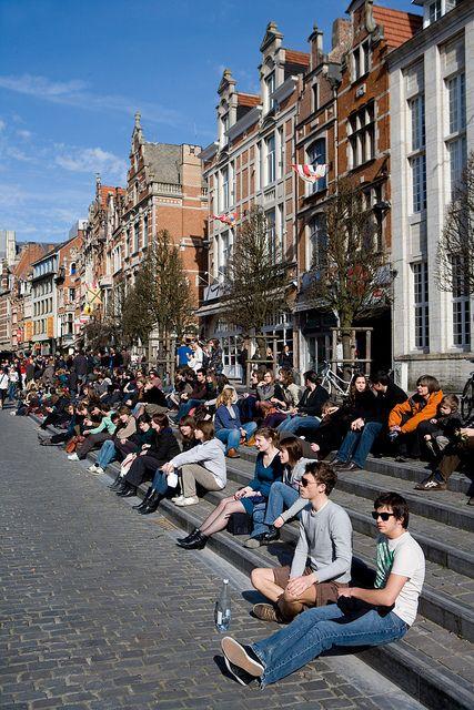 Oude Markt, Leuven, Belgium