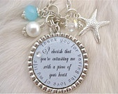 SISTER Wedding Quote Bridal Jewelry Gift  pendant, engagement jewelry, Mother of the bride, Maid of honor, Pink Shabby Chic. $24.50, via Etsy.