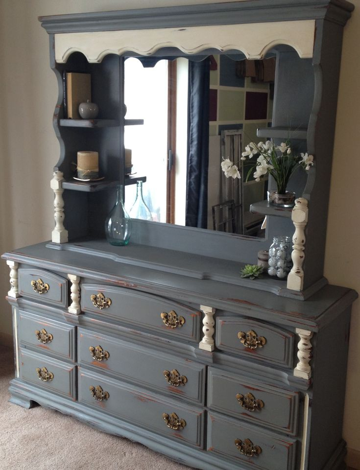 painted dresser with mirror - Google Search