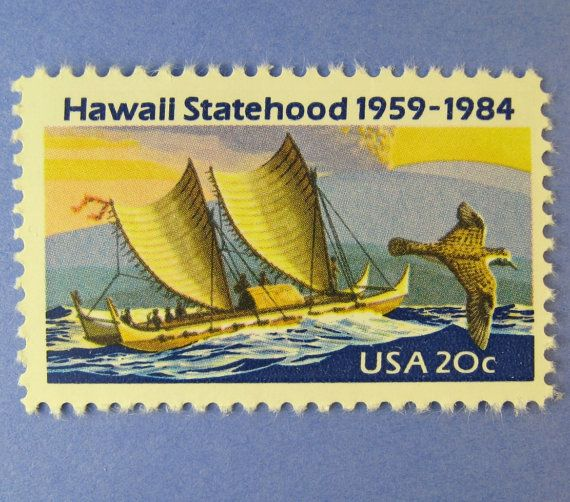 postage stamps from oceany | Vintage Postage Stamps Unused, Hawaii, Ocean Scene, 20 Cents, 25 for ..