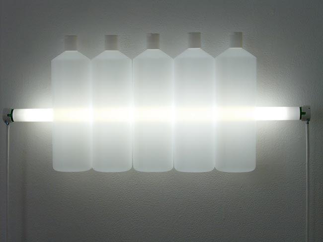 Bill Culbert, Light State (2010). Plastic, fluorescent light.