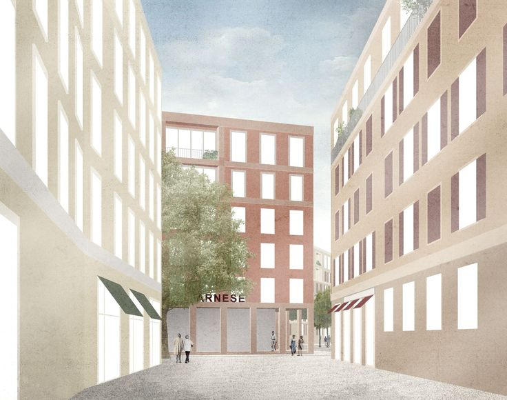 Flaminio Neighbourhood Masterplan in Rome by Caruso St John Final competition entry