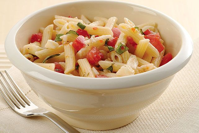 Make our Easy Pasta Salad with Italian Dressing today in just 15 mintues! Tomatoes, basil and cheese add to the classic pasta salad with…