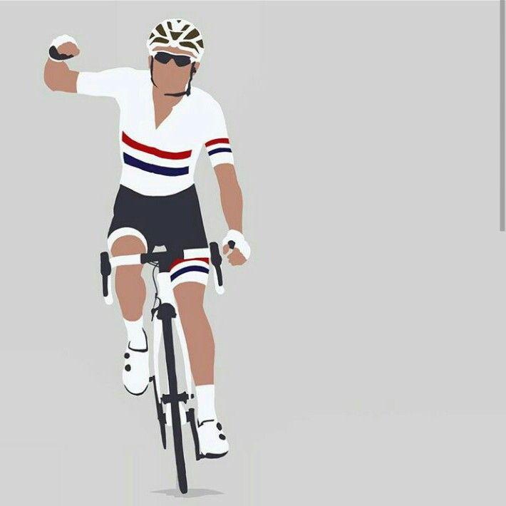 via Phill Hines cycling art road bike